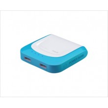 AKUPANK 4400mAh, USB, VALGE/HELESININE